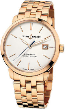 Ulysse Nardin,Ulysse Nardin - Classico Automatic - Rose Gold - Bracelet - Watch Brands Direct
