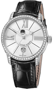 Ulysse Nardin,Ulysse Nardin - Classico Luna - Stainless Steel - Diamond Bezel - Watch Brands Direct