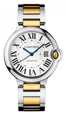Cartier,Cartier - Ballon Bleu 36mm - Steel and Yellow Gold - Watch Brands Direct