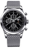 Breitling,Breitling - Transocean Chronograph 1461 Stainless Steel - Bracelet - Watch Brands Direct