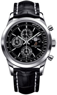Breitling,Breitling - Transocean Chronograph 1461 Stainless Steel - Croco Strap - Watch Brands Direct