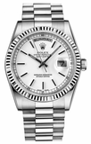Rolex - Day-Date President White Gold - Fluted Bezel - Watch Brands Direct  - 16
