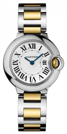 Cartier,Cartier - Ballon Bleu 28mm - Steel and Yellow Gold - Watch Brands Direct