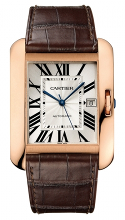 Cartier,Cartier - Tank Anglaise Pink Gold - Alligator Strap - Watch Brands Direct