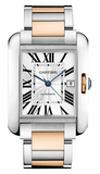 Cartier,Cartier - Tank Anglaise Stainless Steel and Pink Gold - Watch Brands Direct
