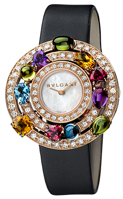 Bulgari - Astrale - 36mm - Pink Gold with Diamonds and Gemstones - Watch Brands Direct