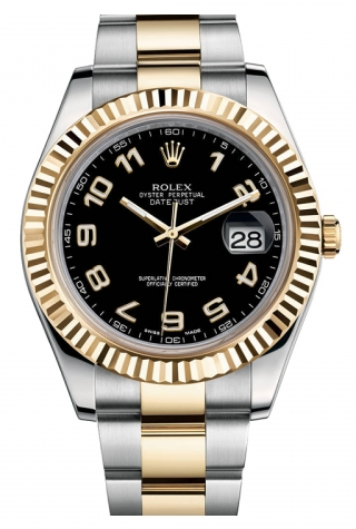 Rolex,Rolex - Datejust II 41mm - Steel and Yellow Gold - Fluted Bezel (116333) - Watch Brands Direct