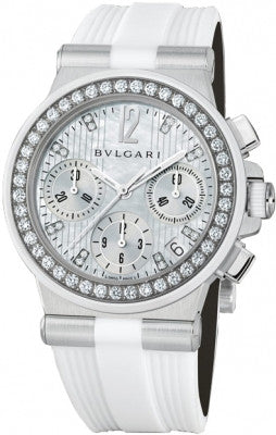 Bulgari,Bulgari - Diagono Chronograph 35mm - Stainless Steel - Watch Brands Direct