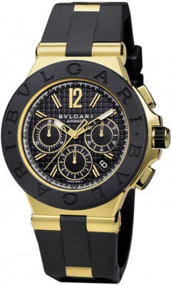 Bulgari,Bulgari - Diagono Chronograph 42mm - Yellow Gold - Watch Brands Direct