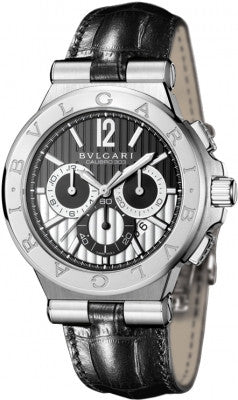 Bulgari,Bulgari - Diagono Chronograph Calibre 303 42mm - Stainless Steel - Watch Brands Direct