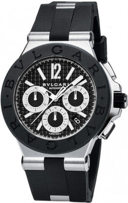 Bulgari,Bulgari - Diagono Chronograph 42mm - Stainless Steel - Watch Brands Direct