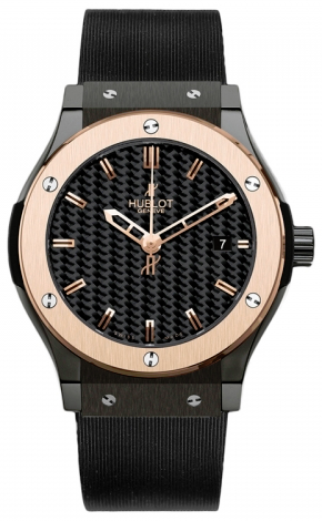 Hublot,Hublot - Classic Fusion 45mm Ceramic And Red Gold - Watch Brands Direct