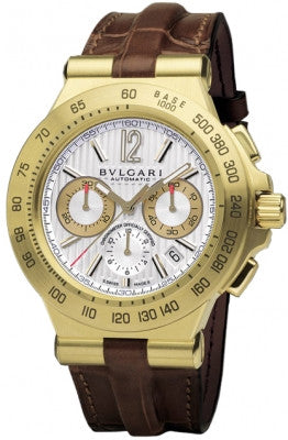 Bulgari,Bulgari - Diagono Professional Automatic 42mm - Yellow Gold - Watch Brands Direct