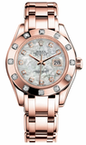 Rolex - Datejust Pearlmaster Lady Everose Gold - 12 Diamond Bezel - Watch Brands Direct  - 3