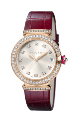 Bulgari - Piccola Lucea - 33mm - Rose Gold and Diamonds - Watch Brands Direct