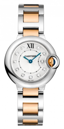 Cartier,Cartier - Ballon Bleu 38mm - Steel and Pink Gold - Watch Brands Direct