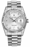 Rolex - Day-Date President White Gold - Fluted Bezel - Diamond Lugs - Watch Brands Direct  - 3