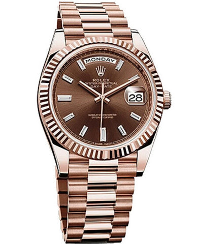 Rolex - Day-Date 40 Everose Gold - Watch Brands Direct  - 1
