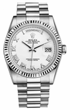 Rolex - Day-Date President White Gold - Fluted Bezel - Watch Brands Direct  - 15