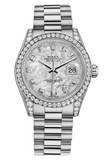 Rolex,Rolex - Datejust 31mm - Gold President White Gold - Diamond Bezel - Diamond Case - Watch Brands Direct