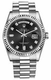 Rolex - Day-Date President White Gold - Fluted Bezel - Watch Brands Direct  - 2
