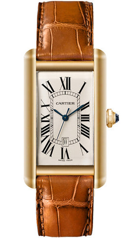 Cartier,Cartier - Tank Americaine Large - Yellow Gold - Watch Brands Direct