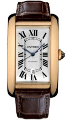 Cartier,Cartier - Tank Americaine Extra Large - Pink Gold - Watch Brands Direct