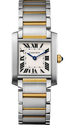 Cartier,Cartier - Tank Francaise Medium - Steel and Yellow Gold - Watch Brands Direct