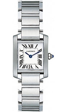 Cartier,Cartier - Tank Francaise Small - Stainless Steel - Watch Brands Direct