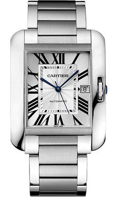 Cartier,Cartier - Tank Anglaise Stainless Steel - Watch Brands Direct