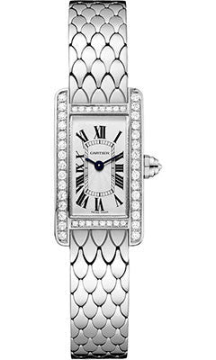 Cartier,Cartier - Tank Americaine Mini - White Gold - Watch Brands Direct