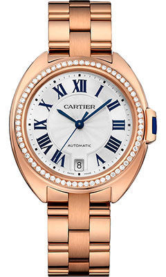 Cartier,Cartier - Cle de Cartier 35mm - Pink Gold and Diamonds - Watch Brands Direct