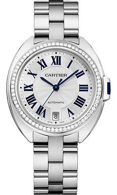 Cartier,Cartier - Cle de Cartier 35mm - White Gold and Diamonds - Watch Brands Direct