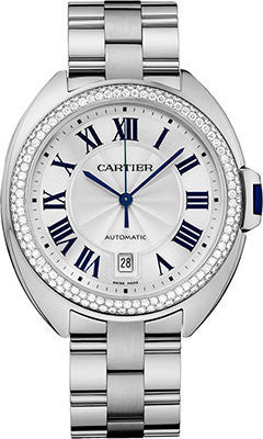 Cartier,Cartier - Cle de Cartier 40mm - White Gold - Watch Brands Direct