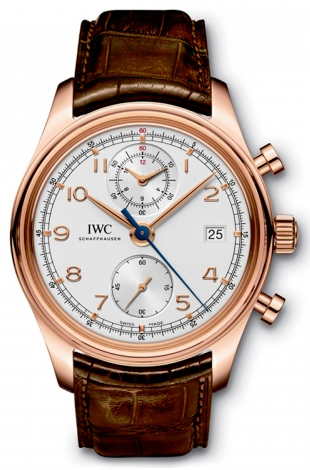 IWC,IWC - Portuguese Chronograph Classic - Red gold - Watch Brands Direct