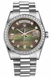 Rolex - Day-Date President Platinum - Diamond Bezel - President - Watch Brands Direct  - 2
