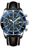 Breitling,Breitling - Superocean Heritage Chronographe 46 Leather Strap - Watch Brands Direct
