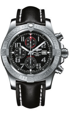 Breitling,Breitling - Super Avenger II Leather Strap - Watch Brands Direct