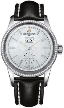 Breitling,Breitling - Transocean 38 Diamond Bezel - Leather Strap - Watch Brands Direct
