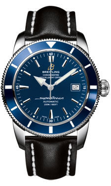 Breitling,Breitling - Superocean Heritage 42 Leather Strap - Watch Brands Direct