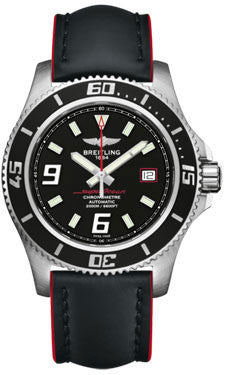 Breitling,Breitling - Superocean 44 Satin Steel - Leather Superocean Strap - Watch Brands Direct