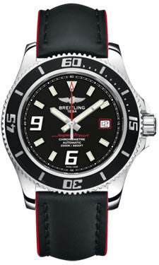 Breitling,Breitling - Superocean 44 Polished Steel - Leather Superocean Strap - Watch Brands Direct