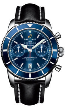 Breitling,Breitling - Superocean Heritage Chronographe 44 Leather Strap - Watch Brands Direct