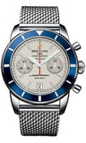 Breitling,Breitling - Superocean Heritage Chronographe 44 Stainless Steel Bracelet - Watch Brands Direct