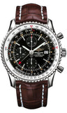 Breitling,Breitling - Navitimer World Stainless Steel - Croco Strap - Watch Brands Direct