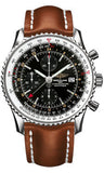 Breitling,Breitling - Navitimer World Stainless Steel - Leather Strap - Watch Brands Direct