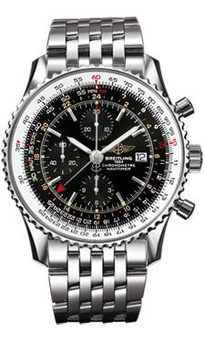 Breitling,Breitling - Navitimer World Stainless Steel - Navitimer Bracelet - Watch Brands Direct