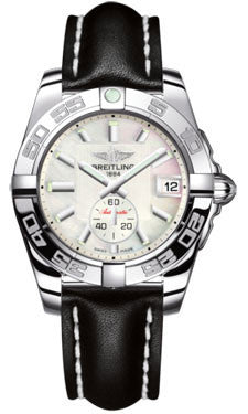 Breitling,Breitling - Galactic 36 Automantic Stainless Steel - Polished Bezel - Leather Strap - Watch Brands Direct