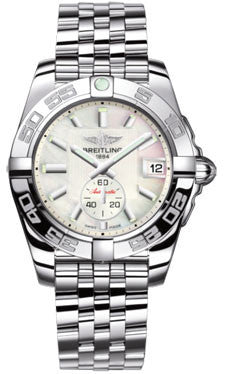 Breitling,Breitling - Galactic 36 Automantic Stainless Steel - Polished Bezel - Pilot Bracelet - Watch Brands Direct