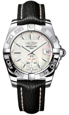 Breitling,Breitling - Galactic 36 Automantic Stainless Steel - Polished Bezel - Sahara Strap - Watch Brands Direct
